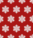 Traditional Christmas Seamless Pattern with Isometric 3D Snowflake Stock Image