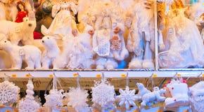 Traditional christmas shopping Royalty Free Stock Photos