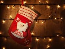 Traditional Christmas sock Royalty Free Stock Photos