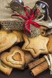 Traditional Christmas spiced cookies Stock Photo