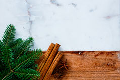 Traditional christmas spices. Stock Image
