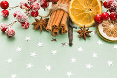 Traditional Christmas spices Stock Image