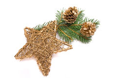 Traditional christmas star Stock Image