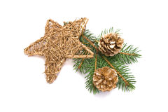 Traditional christmas star Royalty Free Stock Photography