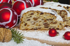 Traditional Christmas stollen  Royalty Free Stock Photography