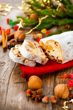 Traditional Christmas Stollen royalty free stock images