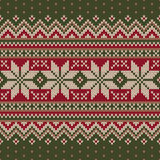 Traditional Christmas Sweater Design. Seamless Knitted Pattern Royalty Free Stock Photo