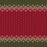 Traditional Christmas Sweater Design. Seamless Knitted Pattern Royalty Free Stock Photography