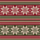 Traditional Christmas Sweater Design. Seamless Pattern Stock Photography