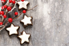 Traditional Christmas sweet gingerbread cookies Royalty Free Stock Photo