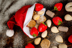 Traditional Christmas sweets Stock Photos