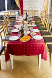Traditional Christmas table Stock Images