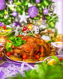 Traditional Christmas table Royalty Free Stock Photo