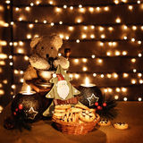 Traditional Christmas toys Stock Images