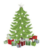 Traditional Christmas Tree Stock Images