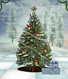 Traditional christmas tree Stock Image