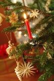 Traditional Christmas tree decoration Stock Photos