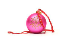 Traditional Christmas Tree Decorations isolated on a white back Stock Photo