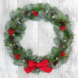 Traditional Christmas Wreath Royalty Free Stock Photography