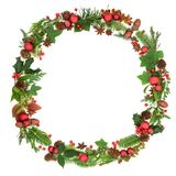Traditional Christmas Wreath Garland stock photo