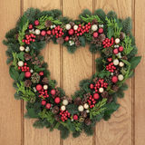 Traditional Christmas Wreath Royalty Free Stock Images