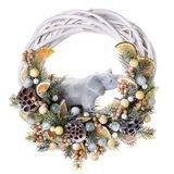 Traditional christmas wreath isolated on white. Christmas decorations for New year, holiday decorations. Royalty Free Stock Images