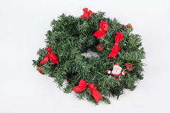 A traditional christmas wreath on white background Stock Photography