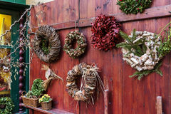 Traditional christmas wreaths Stock Images