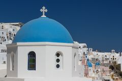 Traditional church in Cyclades style, Oia village Stock Image