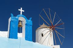Traditional church in Cyclades style, Oia village Royalty Free Stock Photography