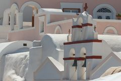Traditional church in Cyclades style, Oia village Royalty Free Stock Images