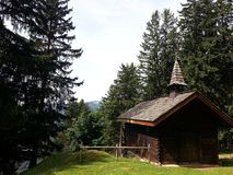 Traditional church in French Alps, Haute-Savoie Royalty Free Stock Images