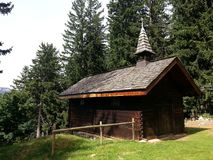 Traditional church in French Alps, Haute-Savoie Stock Photo