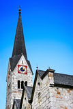 Traditional church in Hallstatt, Austria Stock Images