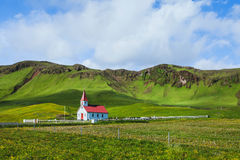 Traditional church in Iceland Royalty Free Stock Image