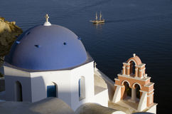 Traditional church in Oia Santorini Greece Royalty Free Stock Image