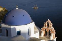 Traditional church in Oia Santorini Greece Royalty Free Stock Image