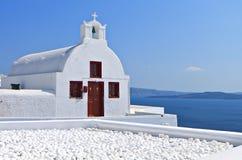 Traditional church at Santorini Royalty Free Stock Images