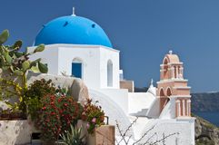 Traditional church at Santorini, Greece Stock Photography