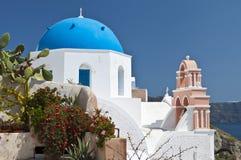 Traditional church at Santorini, Greece Stock Photography
