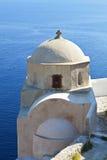 Traditional church at Santorini island Royalty Free Stock Images