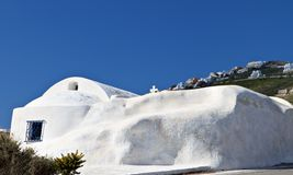 Traditional church at Santorini island Stock Photo