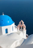 Traditional church at Santorini island Royalty Free Stock Photos