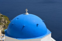 Traditional church at Santorini island in Greece Royalty Free Stock Photography