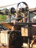 Traditional cider press. A traditional steam-engine powered cider press mechanism Stock Photos