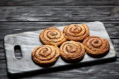 Traditional cinnamon rolls Royalty Free Stock Image