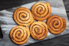 Traditional cinnamon rolls Stock Photo