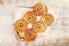 Traditional cinnamon rolls Royalty Free Stock Photo