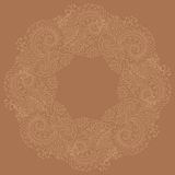 Traditional circle vector oriental floral ornament Stock Image