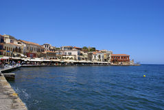 Traditional city of Hania at Crete Stock Photography
